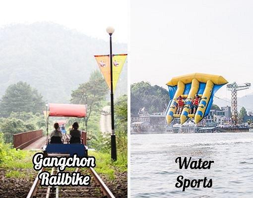 2017 Gangchon Rail Bike & Water Sports Shuttle Bus Package