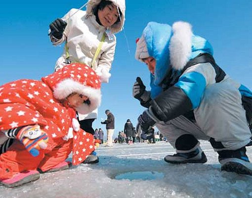 [From Alpensia/Yongpyong] Pyeongchang Trout Ice Fishing Festival Half Day Tour